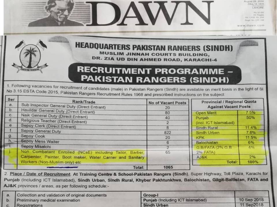 Minority sentiments hurt by ad carried by Pakistan daily